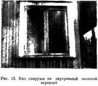 Рис. 13. Вид снаружи на двухрамный оконный переплет