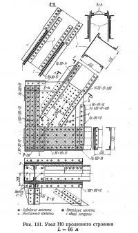 Рис. 131. Узел Н0 пролетного строения L=66 м