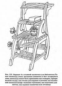 Рис. 131. Вариант 4-х этажной скамеечки для библиотеки