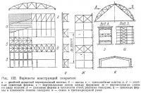 Рис. 132. Варианты конструкций покрытия
