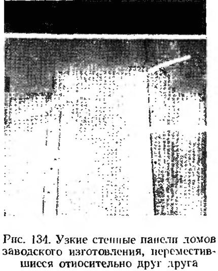 Рис. 134. Узкие стенные панели домов заводского изготовления