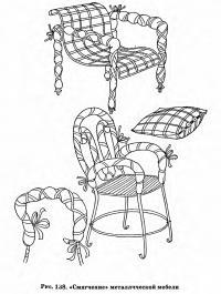 Рис. 138. «Смягчение» металлической мебели