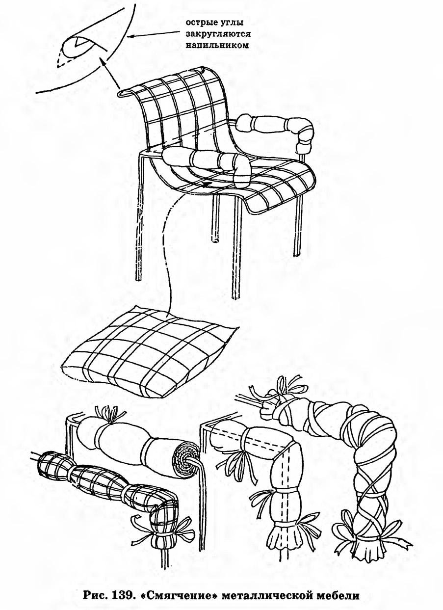Рис. 139. «Смягчение» металлической мебели