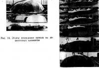 Рис. 14. Этапы возведения купола из лепестковых элементов