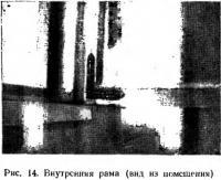 Рис. 14. Внутренняя рама (вид из помещения)