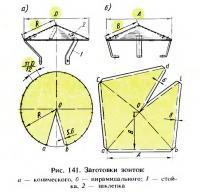 Рис. 141. Заготовки зонтов