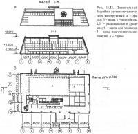 Рис. 14.21. Плавательный бассейн в легких металлических конструкциях