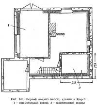 Рис. 143. Первый подвал малого здания в Корсо