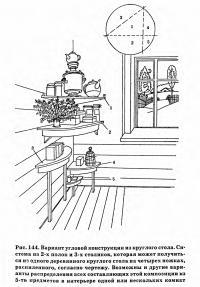 Рис. 144. Вариант угловой конструкции из круглого стола