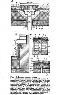 Рис. 149. Детали плоских крыш
