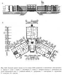 Рис. 14.9. Типовой проект школы на 33 класса (1266 учащихся)
