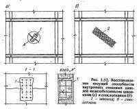 Рис. 1.52. Восстановление стеновых панелей железобетонными шпонками