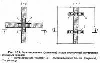 Рис. 1.55. Восстановление узлов пересечений внутренних стеновых панелей