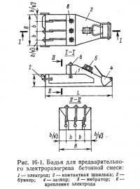 Рис. 16-1. Бадья для предварительного электроразогрева бетонной смеси