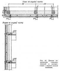 Рис. 16. Детали сопряжения стеновых панелей в соответствии с первой схемой членения