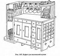 Рис. 167. Буфет для маленькой кухни