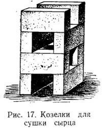 Рис. 17. Козелки для сушки сырца