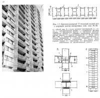 Рис. 1.7. Крупнопанельный 17-этажный жилой дом с широким шагом поперечных стен (тип М-10)