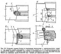 Рис. 173. Установка оконных блоков со спаренными переплетами в крупнопанельные стены