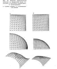 Рис. 18. Решения пневматической оболочки на квадратном плане