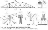 Рис. 184. Автодорожный мост сквозной системы