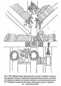 Рис. 185. Оформление пространства между столбами и балками верхнего этажа