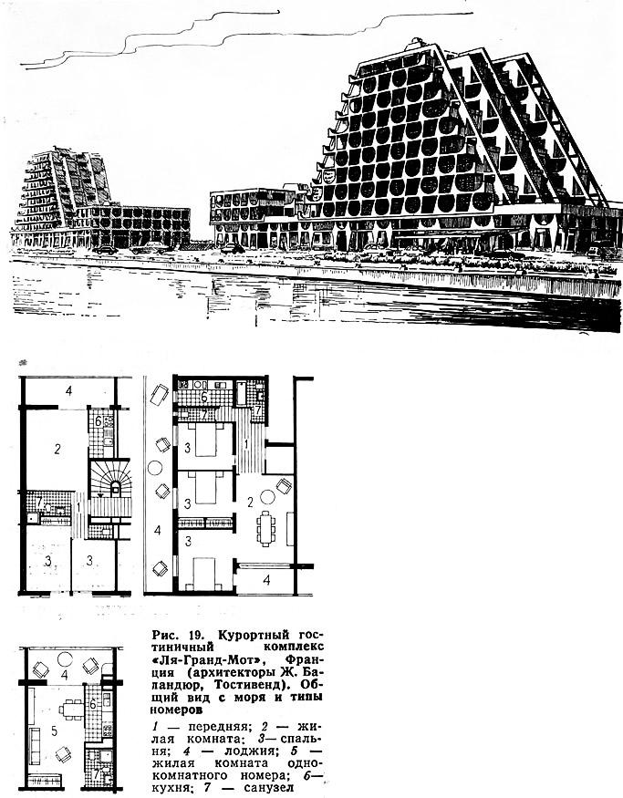 Рис. 19. Курортный гостиничный комплекс «Ля-Гранд-Мот», Франция
