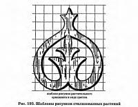 Рис. 193. Шаблоны рисунков стилизованных растений
