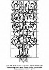 Рис. 197. Шаблон конька крыши в виде растительного орнамента
