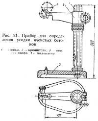 Рис. 21. Прибор для определения усадки ячеистых бетонов