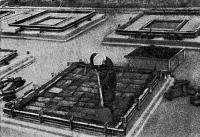 Рис. 21. Заполнение бортовых ребер бетоном после укладки пенокералита