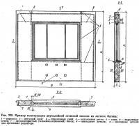 Рис. 225. Пример конструкции двухслойной стеновой панели из легкого бетона