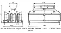 Рис. 229. Подвижная опорная часть с четырьмя срезными катками и литыми балансирами