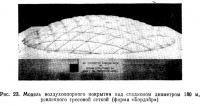 Рис. 23. Модель воздухоопорного покрытия над стадионом диаметром 180 м