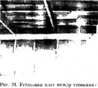 Рис. 24. Установка плит между стойками