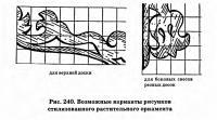Рис. 240. Возможные варианты рисунков стилизованного растительного орнамента