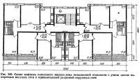 Рис. 245. Схема монтажа панельного жилого дома повышенной этажности