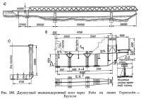 Рис. 246. Двухпутный железнодорожный мост через Рейн на линии Гермсхейм-Брухсал