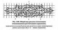 Рис. 246. Общий вид рисунка композиции стилизованного растительного орнамента