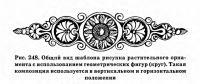 Рис. 248. Общий вид шаблона рисунка растительного орнамента