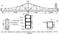 Рис. 250. Пролетные строения автодорожного моста через прол. Карквинец в Калифорнии