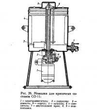 Рис. 26. Мешалка для красочных составов СО-11