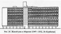 Рис. 26. Жилой дом в Марселе