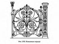 Рис. 272. Кованные ограды