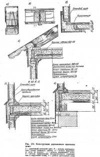 Рис. 273. Конструкции деревянного щитового дома