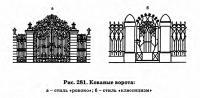 Рис. 281. Кованые ворота