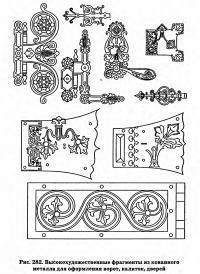 Рис. 282. Высокохудожественные фрагменты из кованного металла