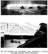Рис. 29. Покрытие над спортивным залом университета Эр-Рияд, Саудовская Аравия