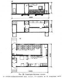 Рис. 29. Санитарно-бытовые здания