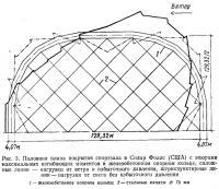 Рис. 3. Половина плана покрытия спортзала в Сидар Фоллс (США)